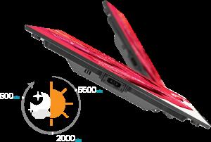 洗練された、 LEDビジョン 降臨。 薄さ33mm。1.6kgという軽さ。 デザイン性に溢れた、0.9mmピッチから30mmピッチまで 幅広いラインアップをとり揃えております。